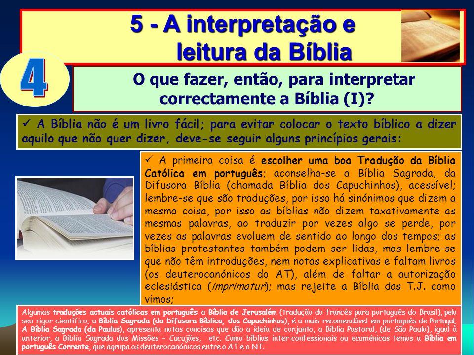 4 5 - A interpretação e leitura da Bíblia