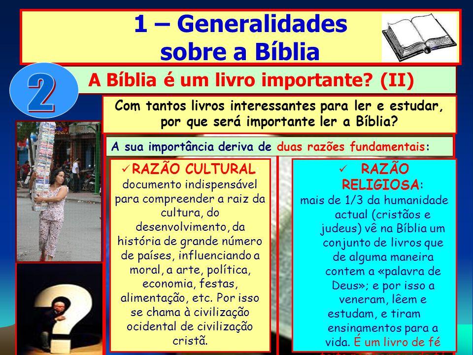 A Bíblia é um livro importante (II)