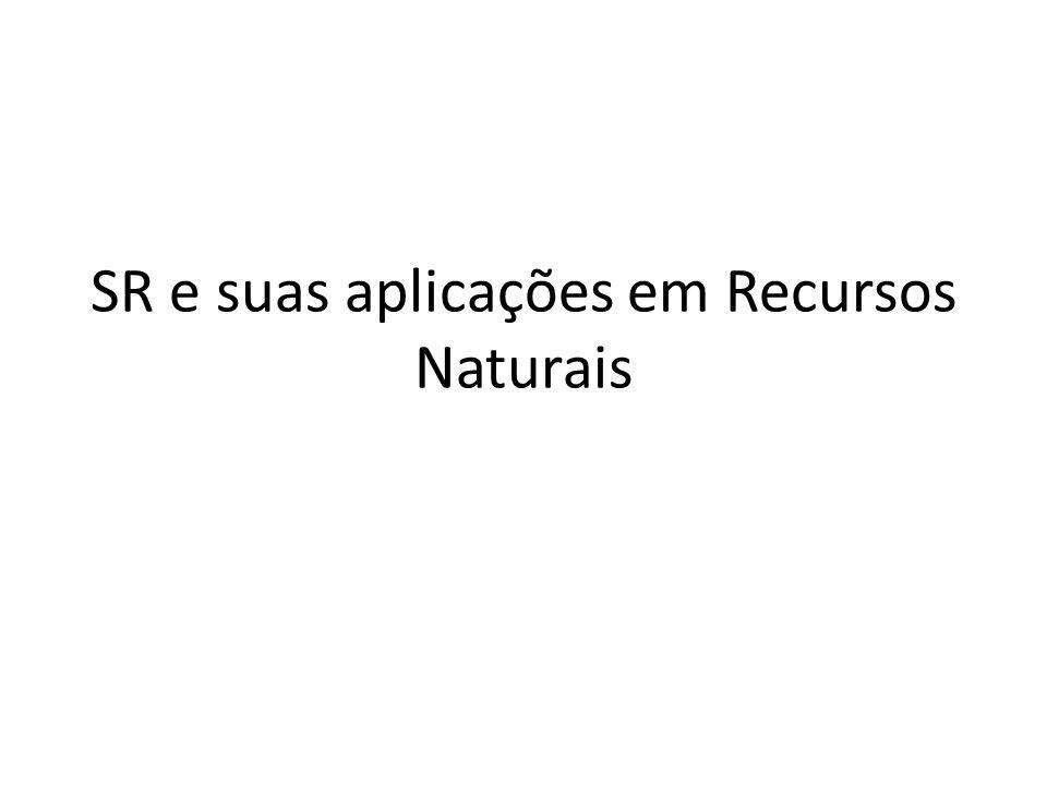 SR e suas aplicações em Recursos Naturais