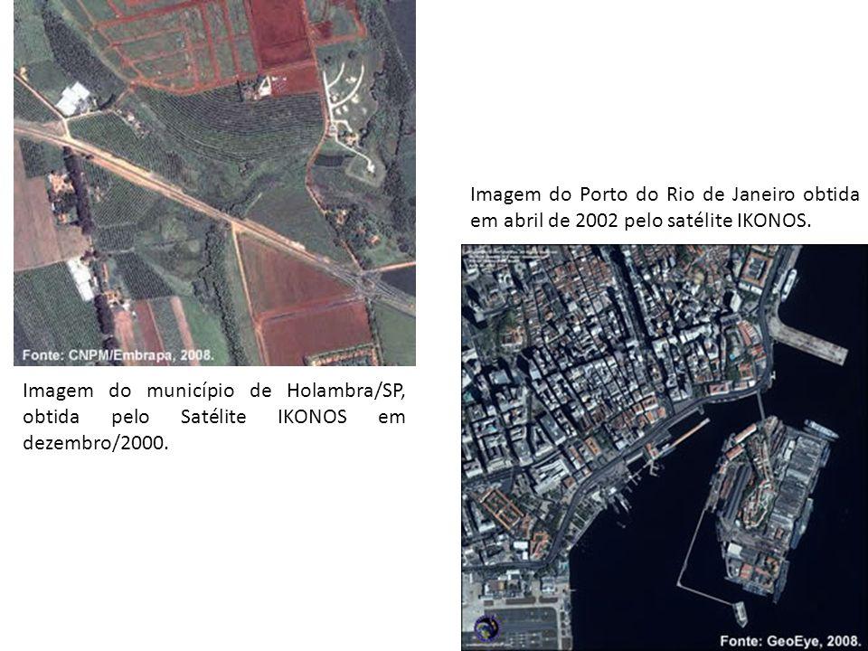 Imagem do Porto do Rio de Janeiro obtida em abril de 2002 pelo satélite IKONOS.