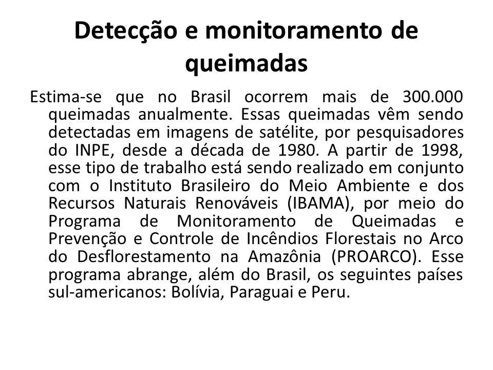 Detecção e monitoramento de queimadas
