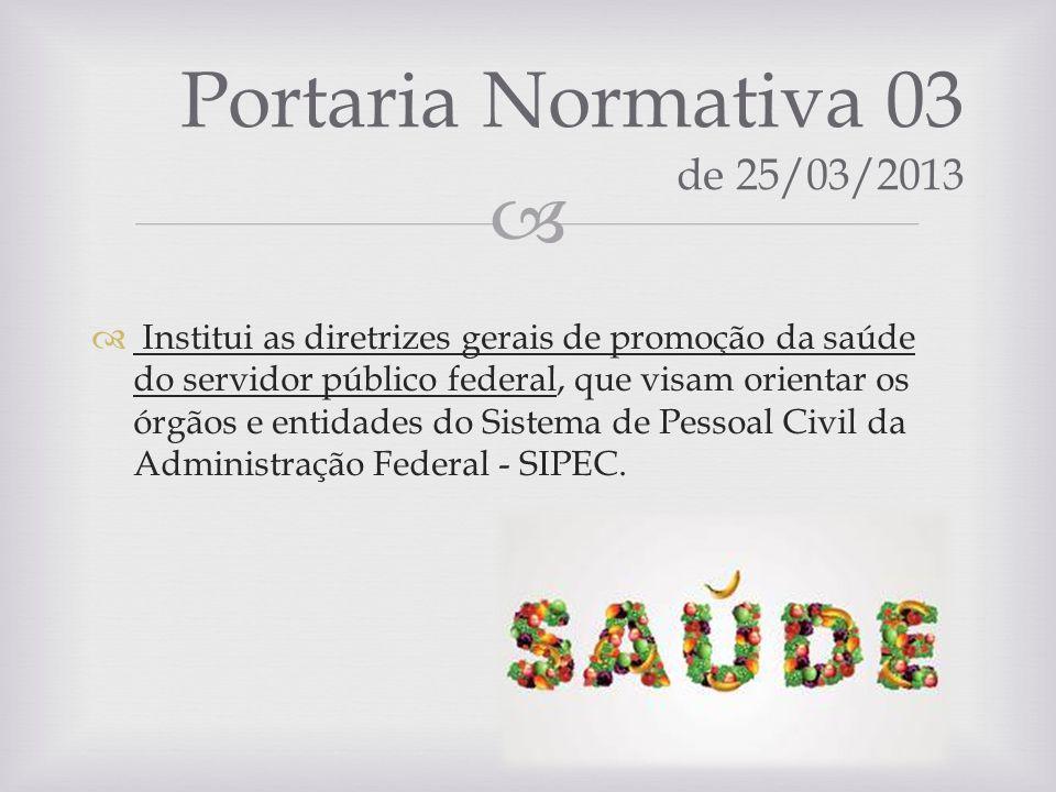 Portaria Normativa 03 de 25/03/2013