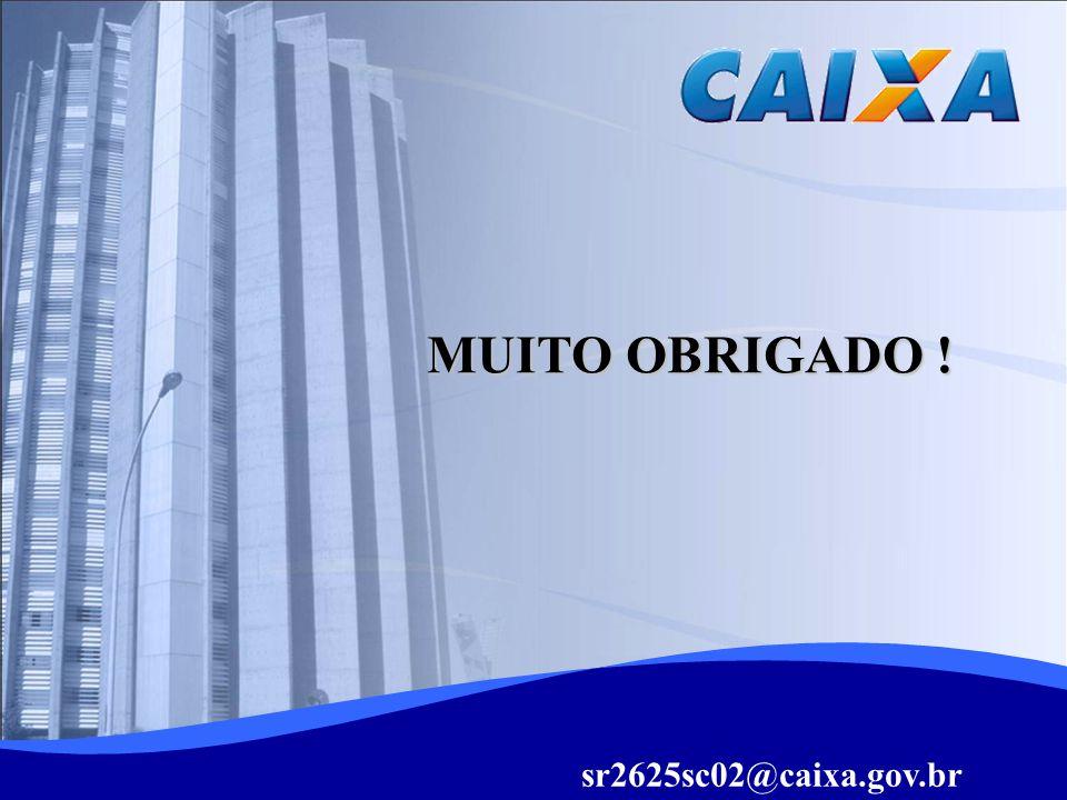 MUITO OBRIGADO ! sr2625sc02@caixa.gov.br