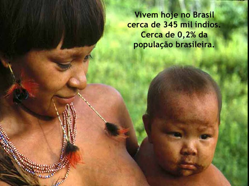Vivem hoje no Brasil cerca de 345 mil índios