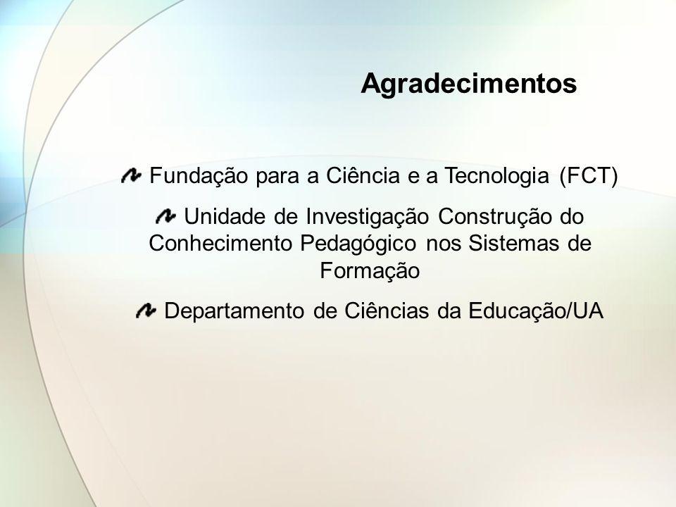 Agradecimentos Fundação para a Ciência e a Tecnologia (FCT)