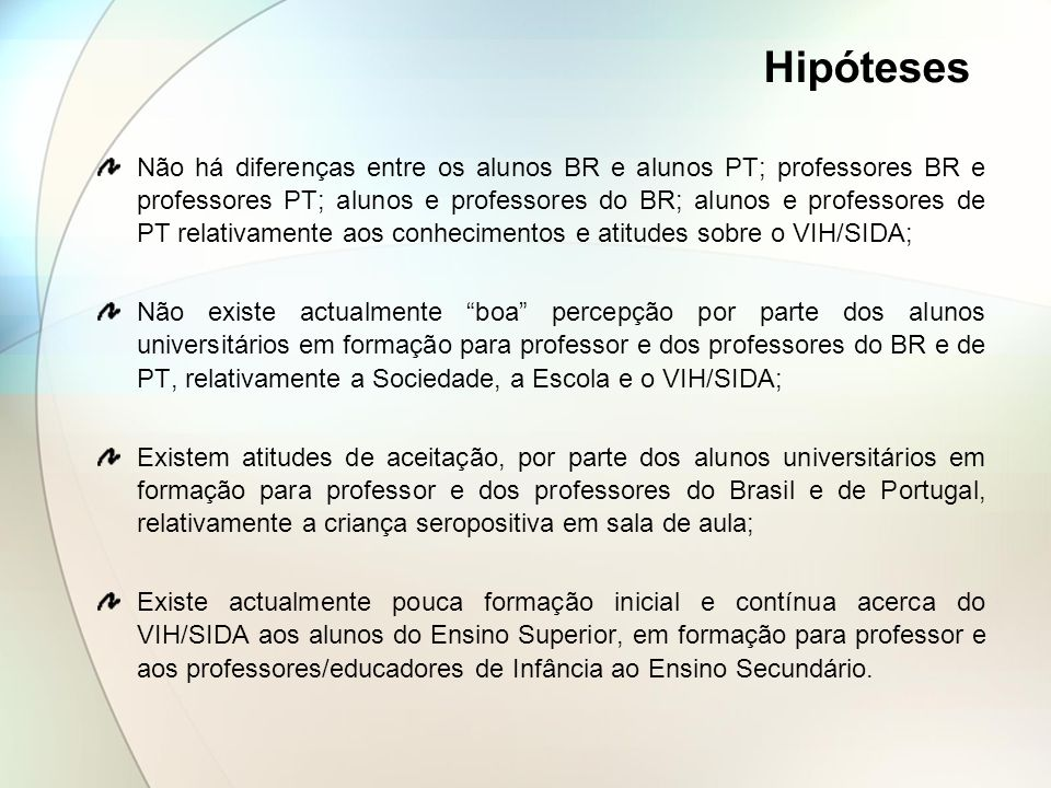 Hipóteses