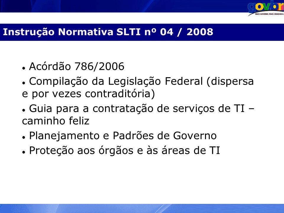 Instrução Normativa SLTI nº 04 / 2008