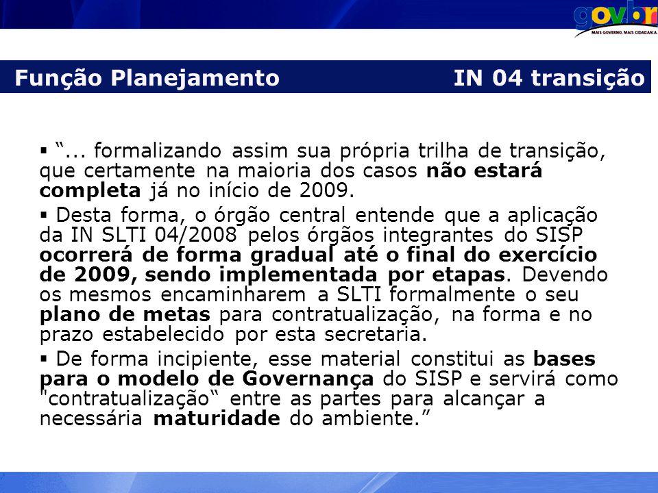 Função Planejamento IN 04 transição