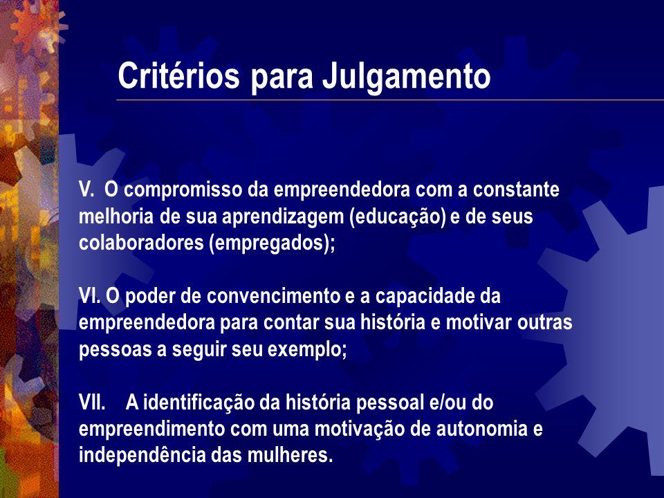 Critérios para Julgamento