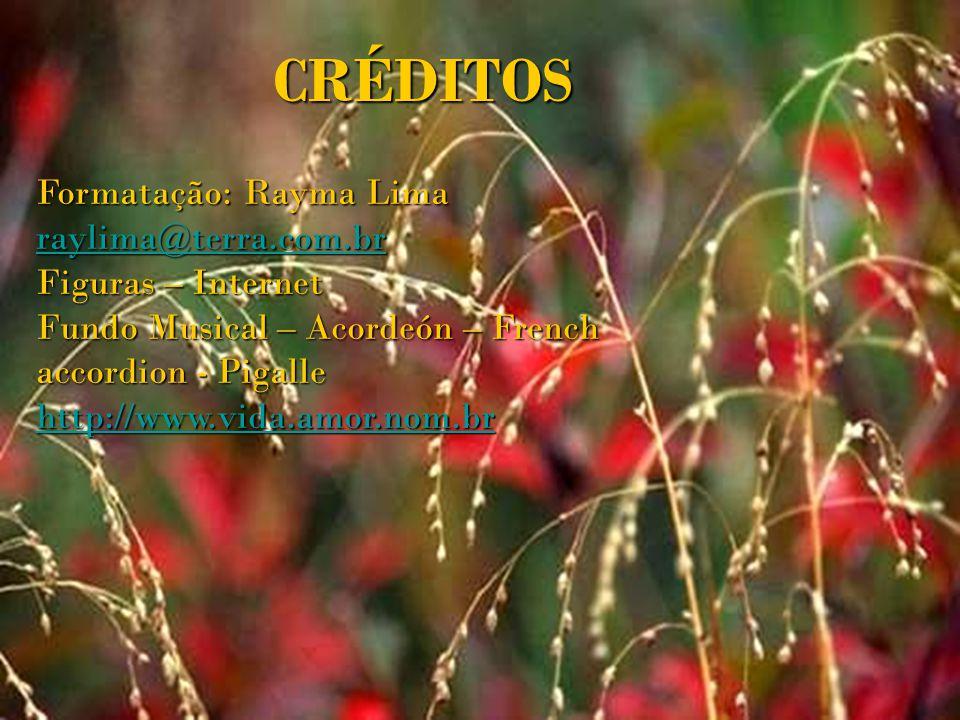 CRÉDITOS Formatação: Rayma Lima raylima@terra.com.br
