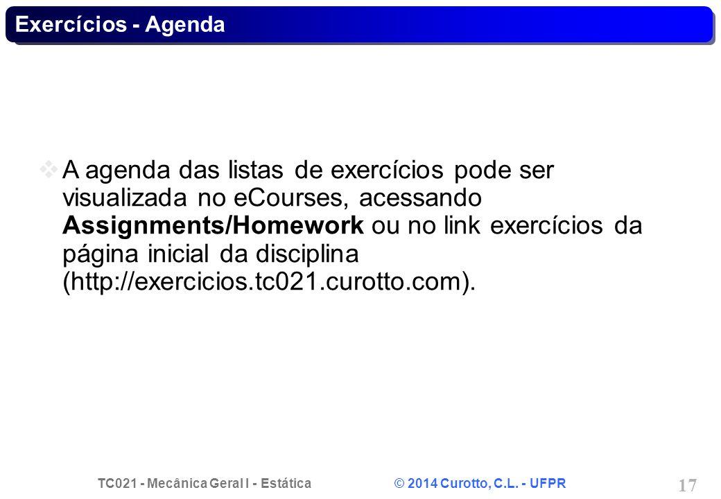 Exercícios - Agenda