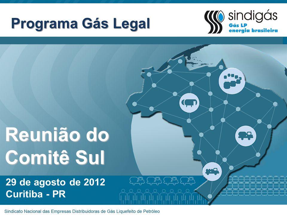 Reunião do Comitê Sul Programa Gás Legal 29 de agosto de 2012