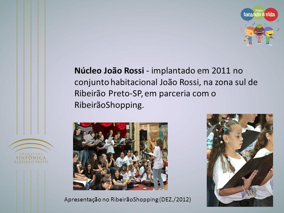 Núcleo João Rossi - implantado em 2011 no conjunto habitacional João Rossi, na zona sul de Ribeirão Preto-SP, em parceria com o RibeirãoShopping.
