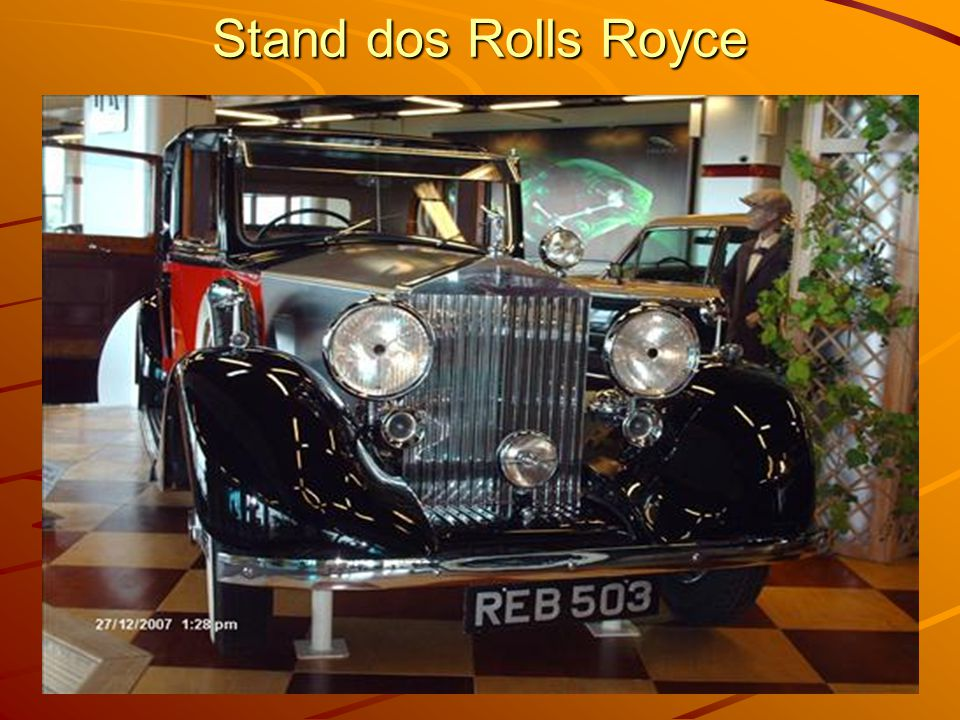Stand dos Rolls Royce