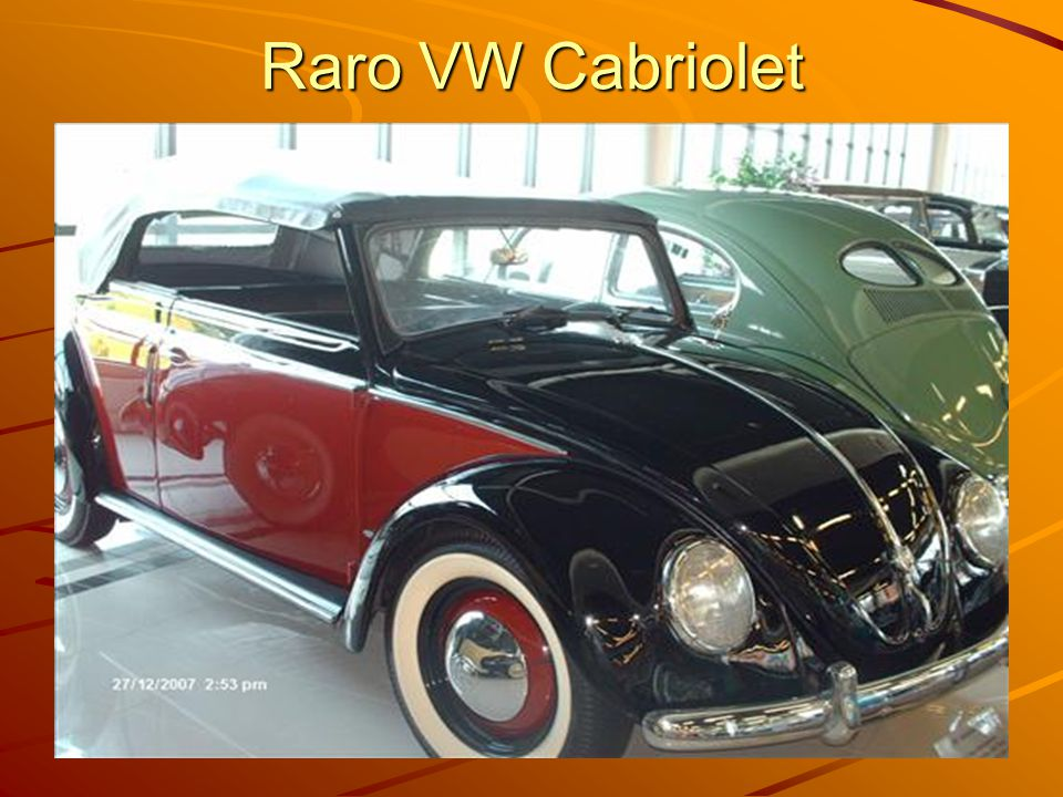 Raro VW Cabriolet