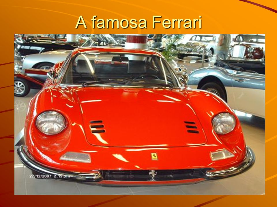 A famosa Ferrari