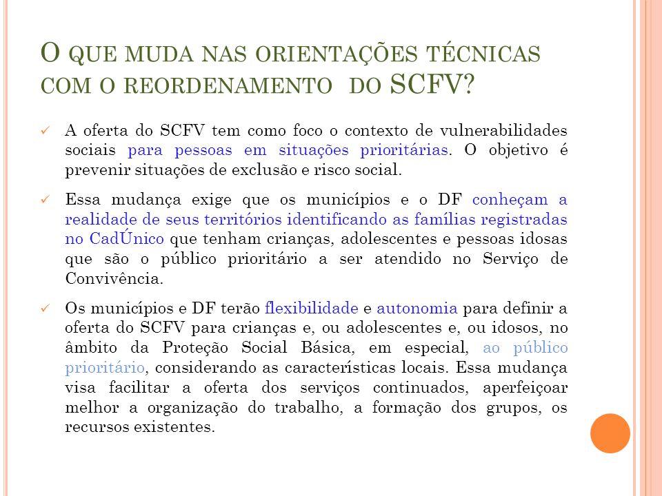 O que muda nas orientações técnicas com o reordenamento do SCFV