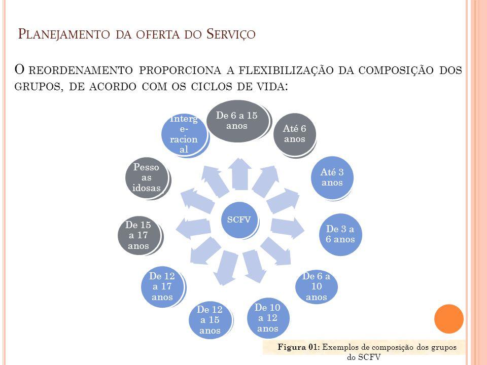 Figura 01: Exemplos de composição dos grupos do SCFV