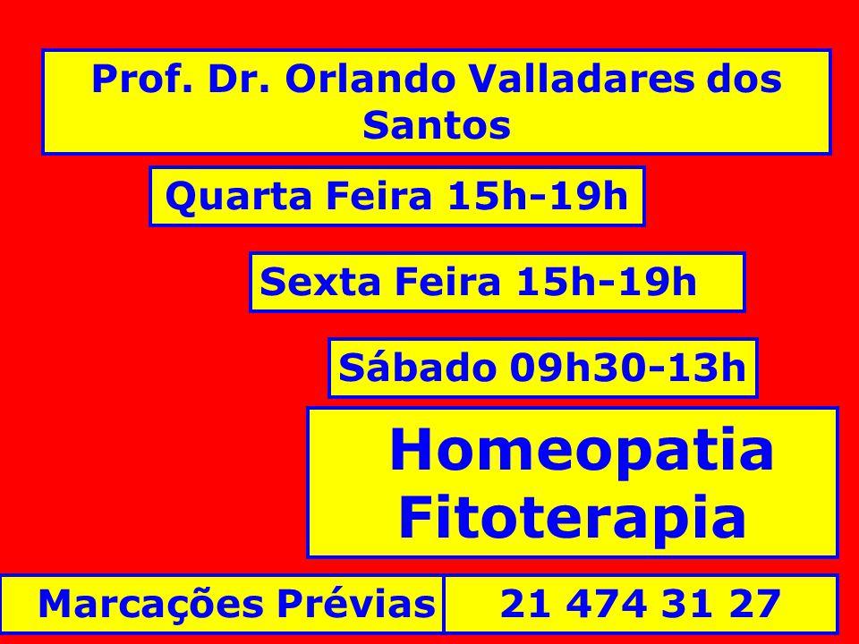 Prof. Dr. Orlando Valladares dos Santos Homeopatia Fitoterapia