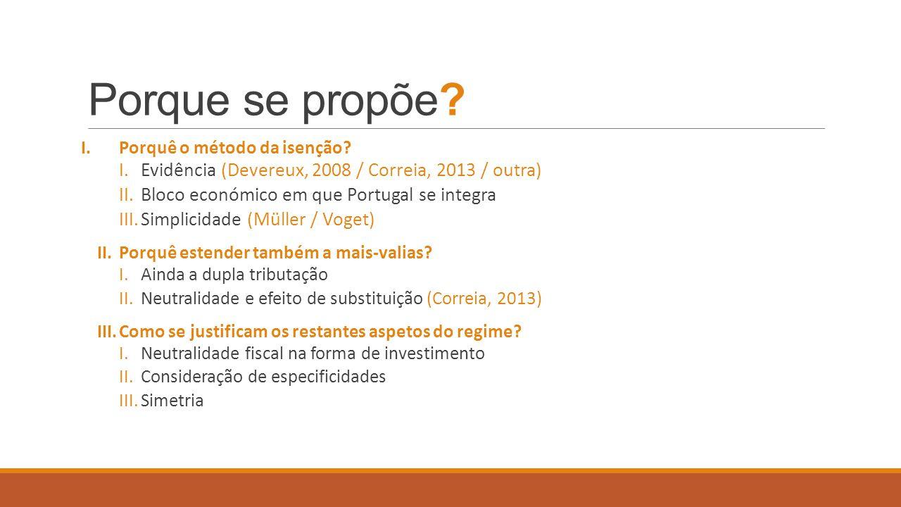 Porque se propõe Evidência (Devereux, 2008 / Correia, 2013 / outra)