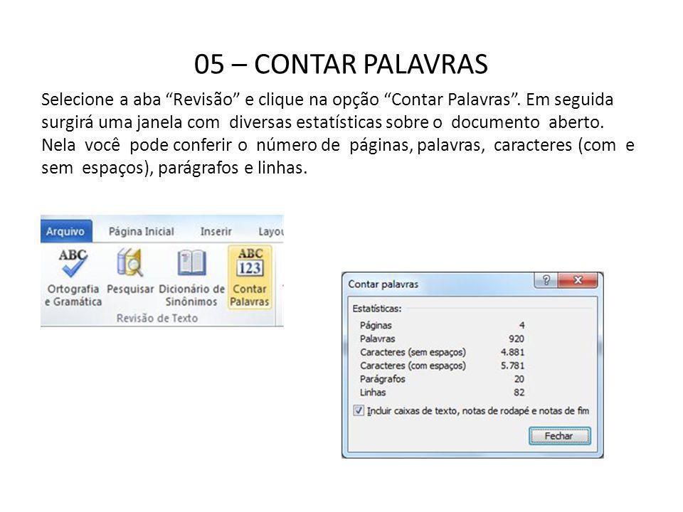 05 – CONTAR PALAVRAS