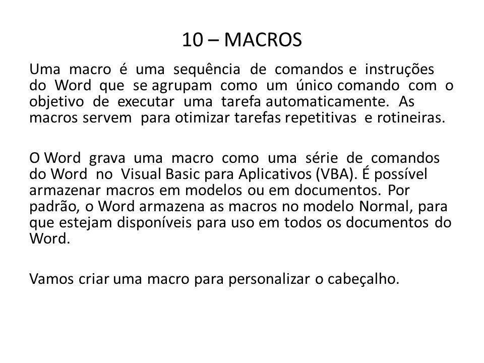 10 – MACROS