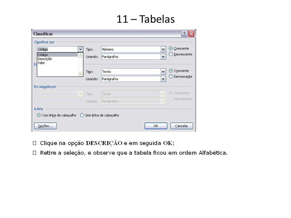 11 – Tabelas