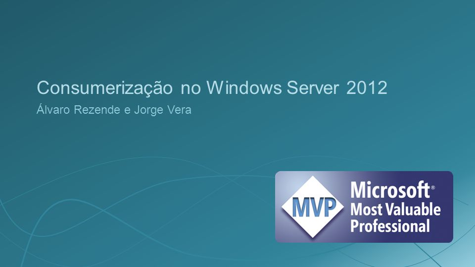 Consumerização no Windows Server 2012