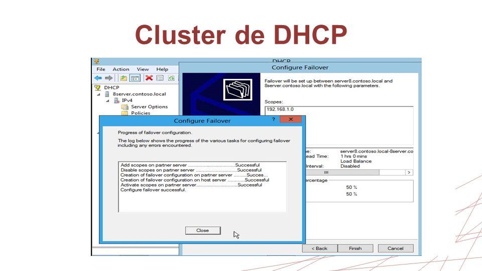 Cluster de DHCP