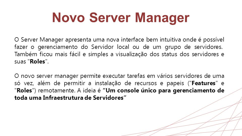 Novo Server Manager