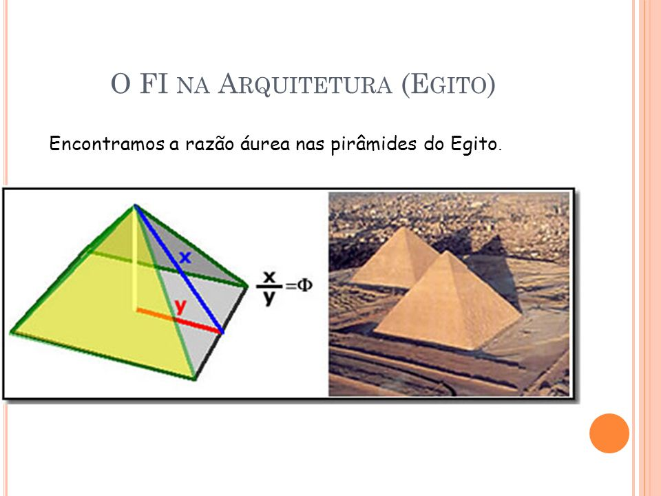 O FI na Arquitetura (Egito)