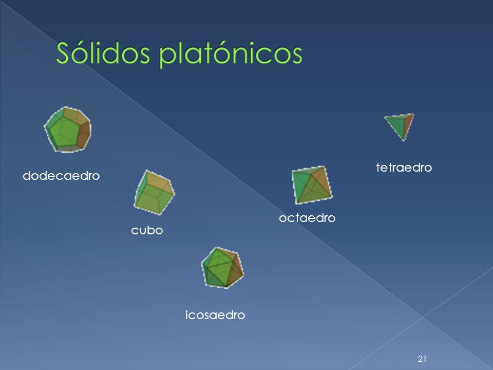 Sólidos platónicos tetraedro dodecaedro octaedro cubo icosaedro