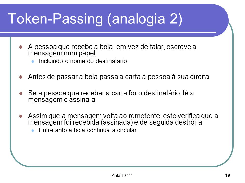 Token-Passing (analogia 2)