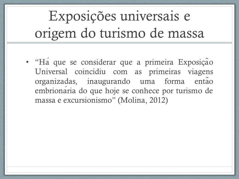 Exposições universais e origem do turismo de massa