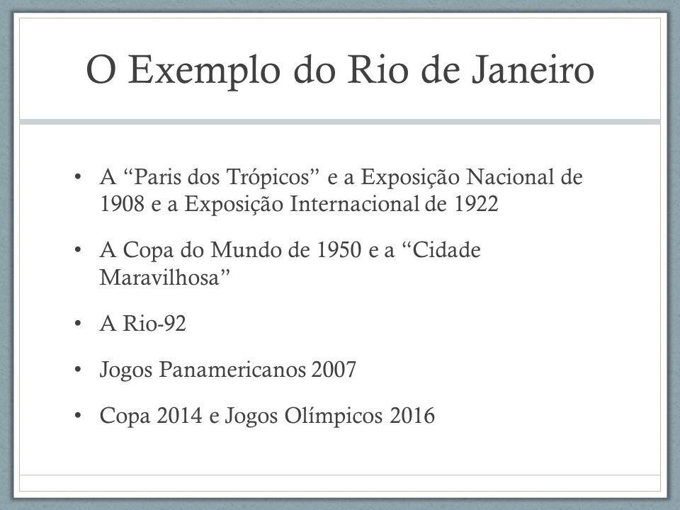 O Exemplo do Rio de Janeiro