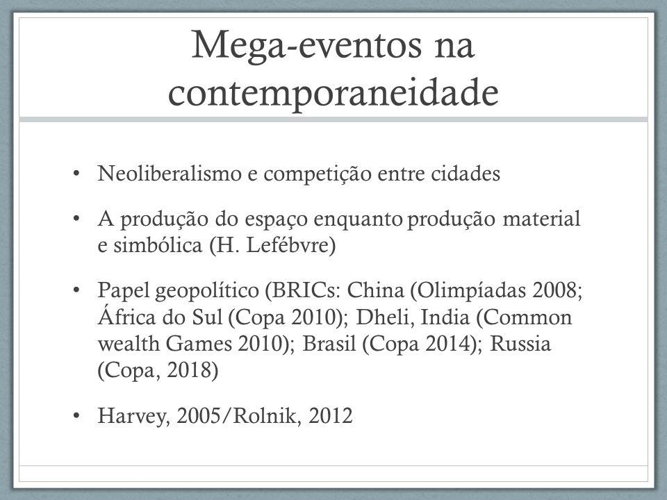 Mega-eventos na contemporaneidade