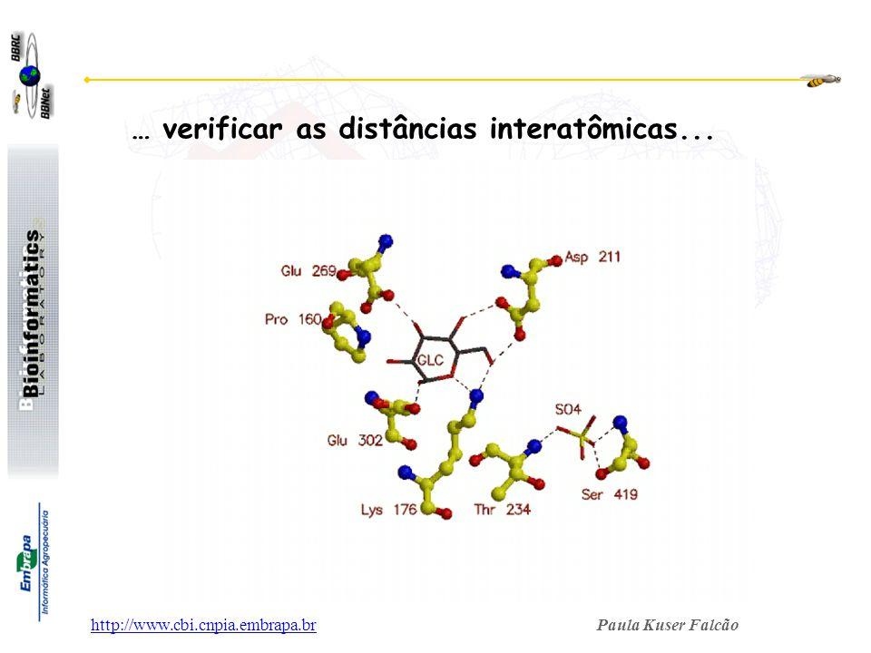 … verificar as distâncias interatômicas...