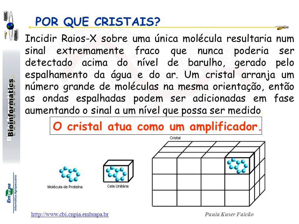 O cristal atua como um amplificador.