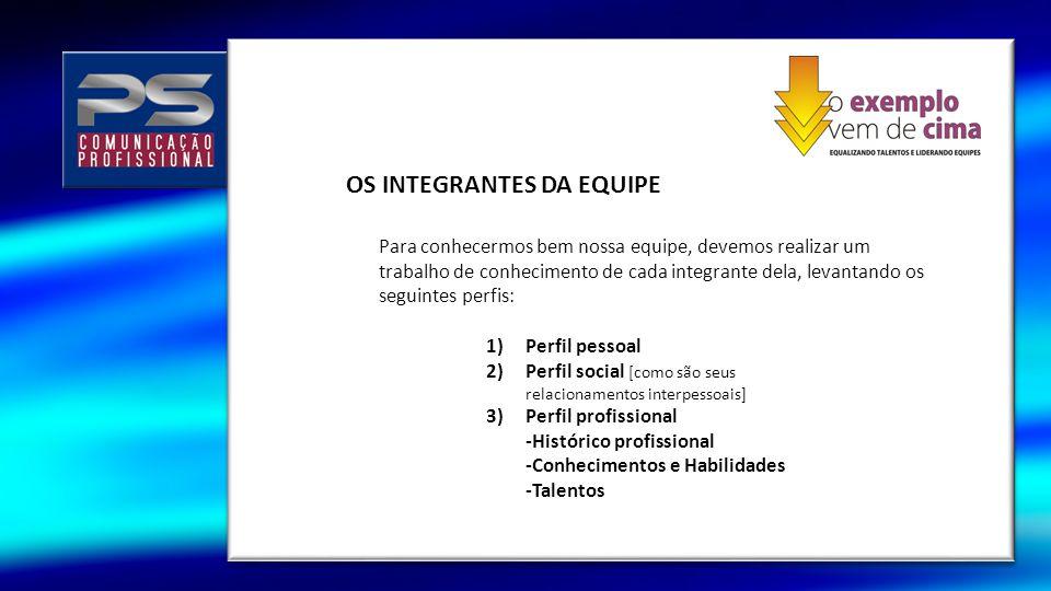 OS INTEGRANTES DA EQUIPE