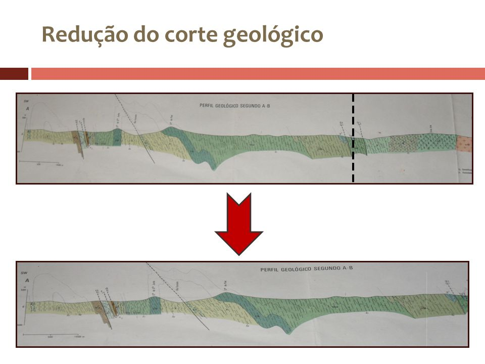 Redução do corte geológico