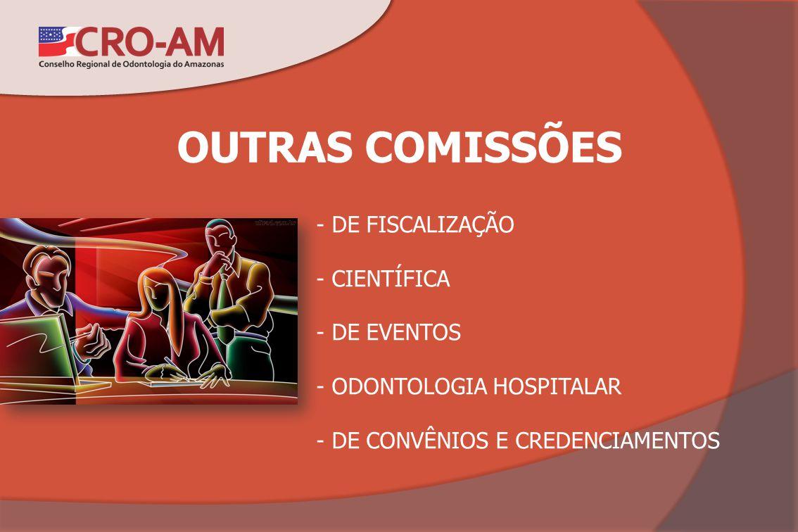 OUTRAS COMISSÕES - DE FISCALIZAÇÃO - CIENTÍFICA - DE EVENTOS