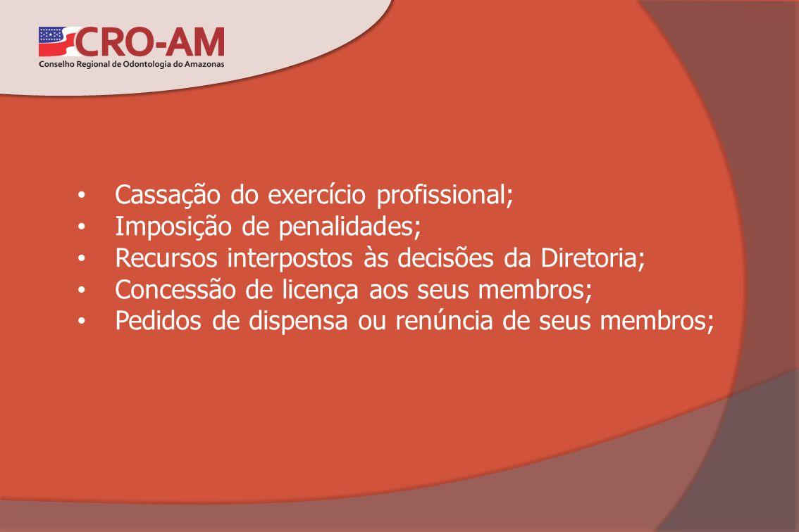 Cassação do exercício profissional;