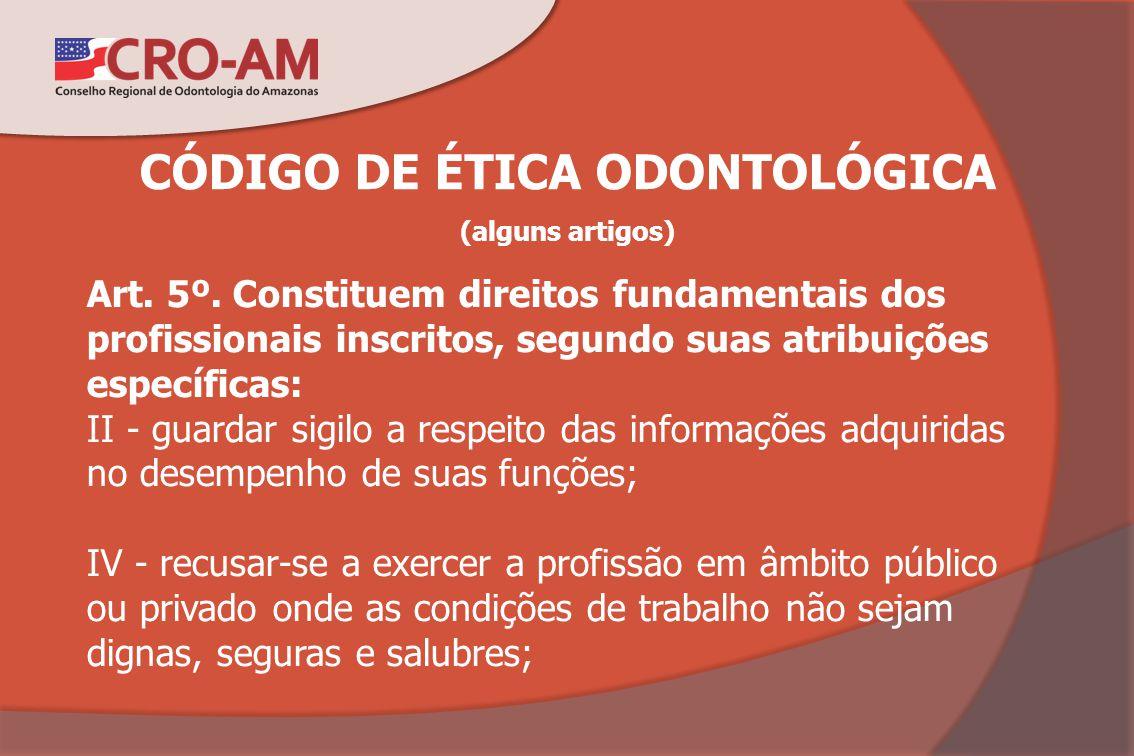 CÓDIGO DE ÉTICA ODONTOLÓGICA