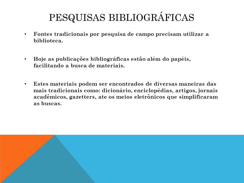 Pesquisas Bibliográficas