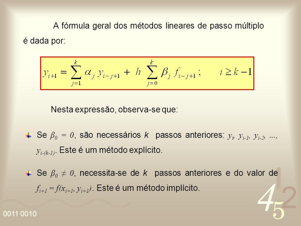 A fórmula geral dos métodos lineares de passo múltiplo é dada por: