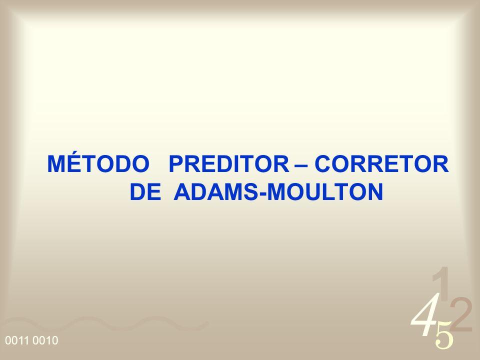 MÉTODO PREDITOR – CORRETOR DE ADAMS-MOULTON