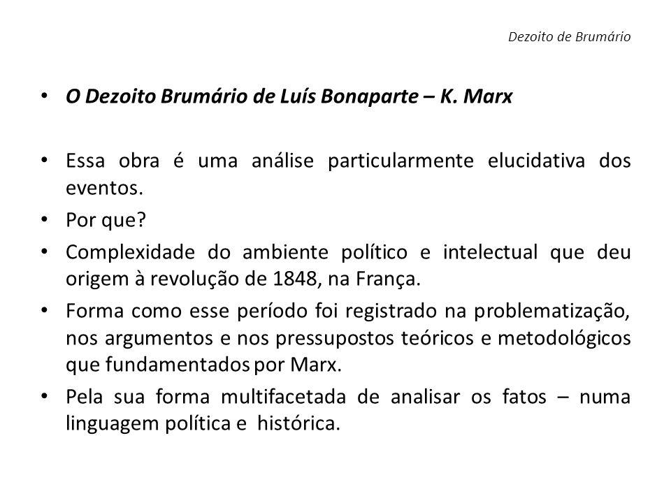 O Dezoito Brumário de Luís Bonaparte – K. Marx