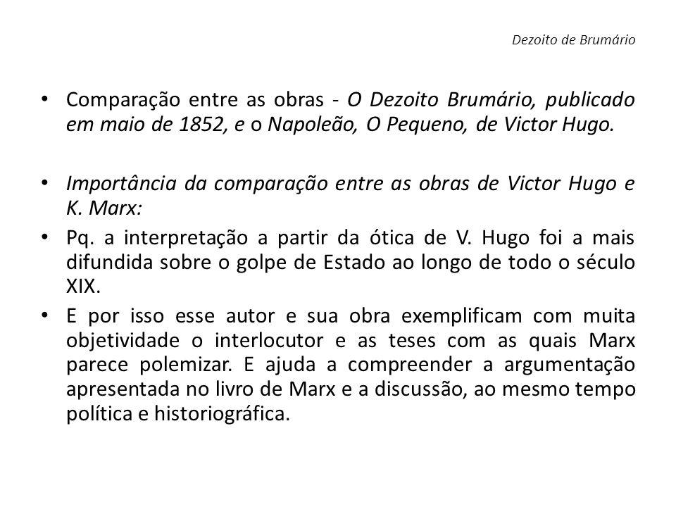 Importância da comparação entre as obras de Victor Hugo e K. Marx: