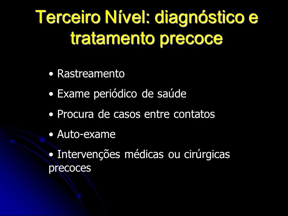 Terceiro Nível: diagnóstico e tratamento precoce