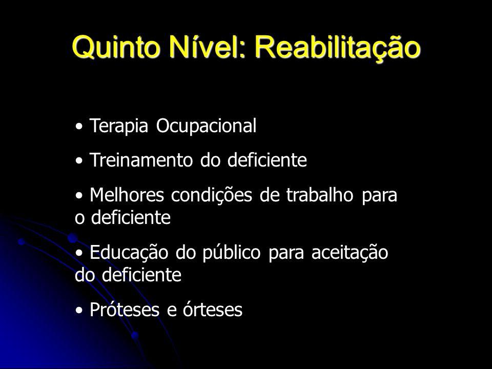 Quinto Nível: Reabilitação